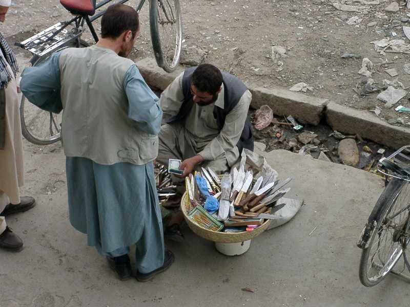 Knife seller, Kabul