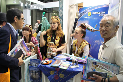 Uzbekistan Airways presents its services at JATA Tourism EXPO Japan-2015