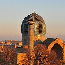 The Gur-e Amir is the mausoleum of the Asian conqueror Tamerlane (Timur) in Samarkand