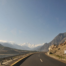 Karakoram Highway with view of Nanga Parbat 8125m