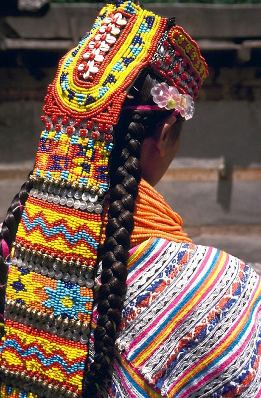 Kalash girls headwear