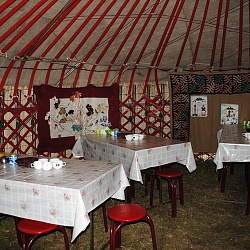 Inside Yurt in Karkara